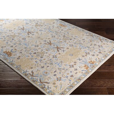 Pewitt Hand-Tufted Wool Denim/Khaki Area Rug Rug Size: Rectangle 5 x 76