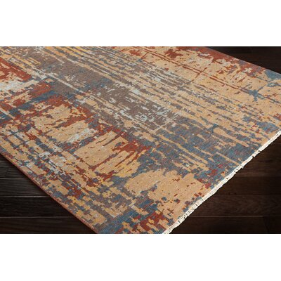 Pelayo Hand-Knotted Wool Burgundy/Tan Area Rug Rug Size: Rectangle 6 x 9