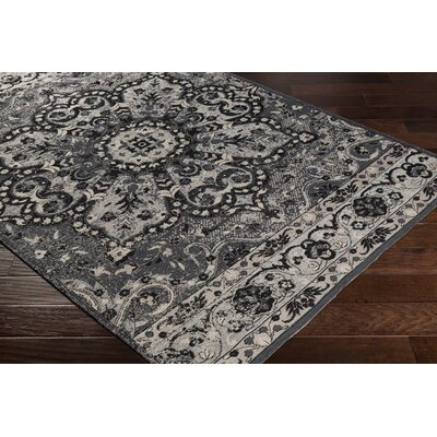 Pelaez Hand-Woven Black/Gray Area Rug Rug Size: Rectangle 8 x 10