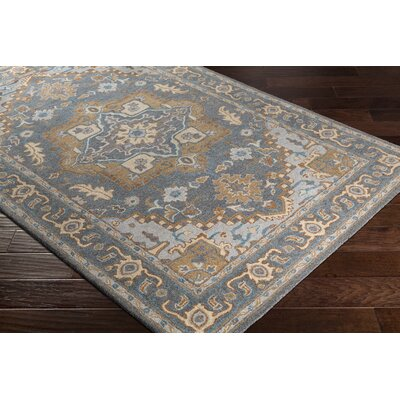 Pewitt Hand-Tufted Medium Wool Gray/Tan Area Rug Rug Size: Rectangle 5 x 76