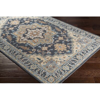 Pewitt Hand-Tufted Wool Charcoal/Wheat Area Rug Rug Size: Rectangle 5 x 76