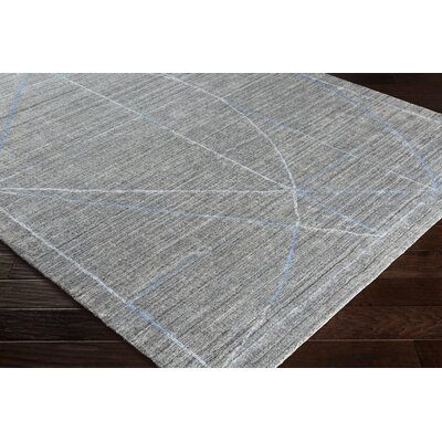 Seifert Hand-Woven Gray/Blue Area Rug Rug Size: Rectangle 4 x 6