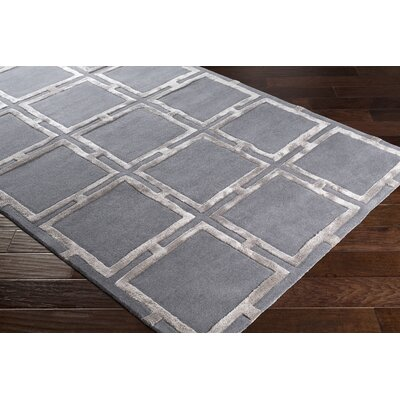 Heidenreich Hand-Tufted Black/Camel Area Rug Rug Size: Rectangle 5 x 76