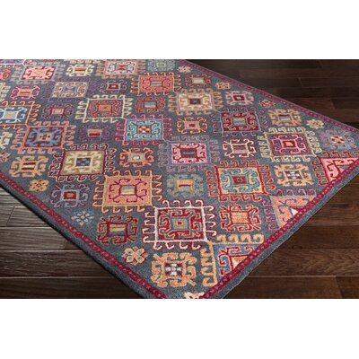 Pewitt Hand-Tufted Wool Bright Pink/Dark Red Area Rug Rug Size: Rectangle 5 x 76