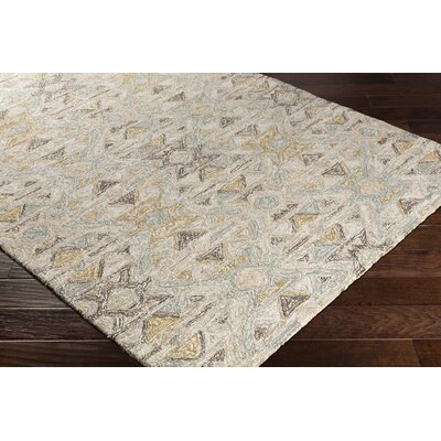 Charboneau Hand-Tufted Cream/Brown Area Rug Rug Size: Rectangle 2 x 3