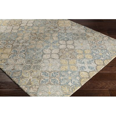 Elsea Hand-Tufted Blue/Brown Area Rug Rug Size: Rectangle 8 x 10