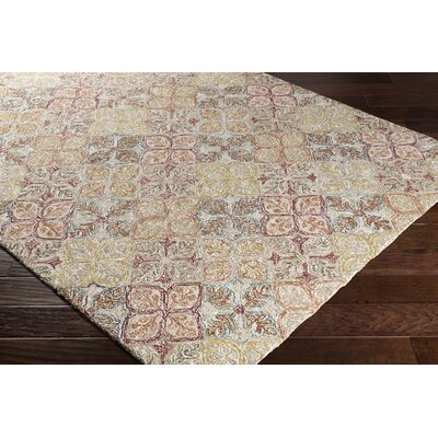 Elsea Hand-Tufted Burgundy/Brown Area Rug Rug Size: Rectangle 5 x 76