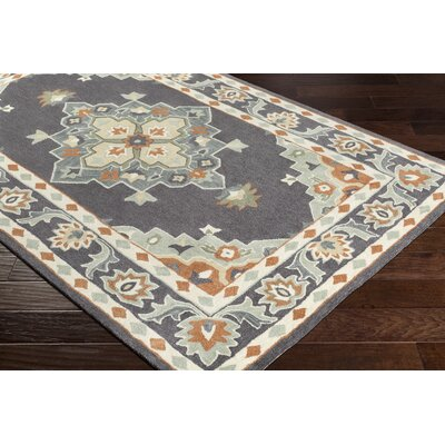Pettitt Hand-Tufted Eggplant/Baby Blue Area Rug Rug Size: Rectangle 5 x 8