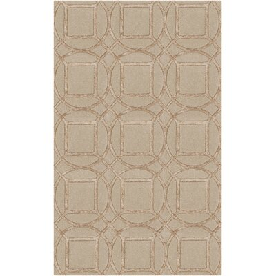 Mcmann Hand-Tufted Khaki/Wheat Area Rug Rug Size: Rectangle 2 x 3