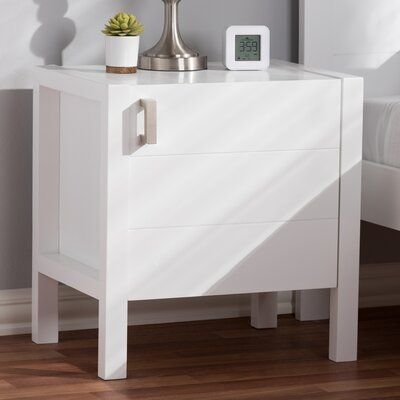 Elisavet Nightstand Color: White
