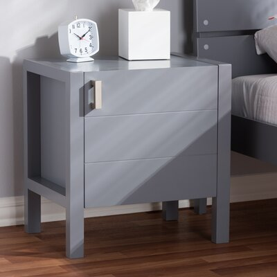 Elisavet Nightstand Color: Gray