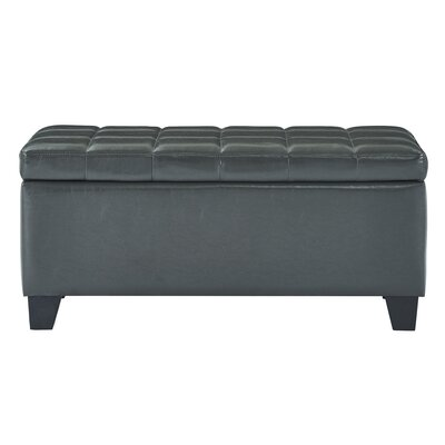 Pina Faux Leather Storage Ottoman Upholstery: Gray