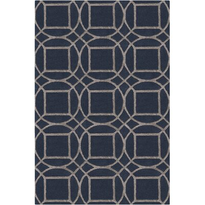 Mcmann Hand-Tufted Navy/Camel Area Rug Rug Size: Rectangle 5 x 76