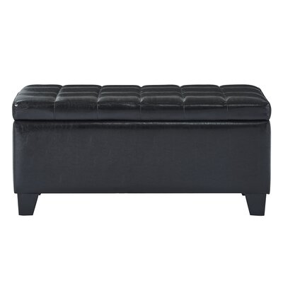 Pina Faux Leather Storage Ottoman Upholstery: Black