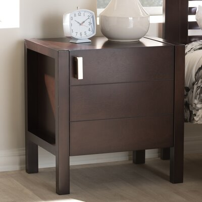 Elisavet Nightstand Color: Dark Brown