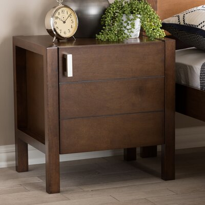 Elisavet Nightstand Color: Brown