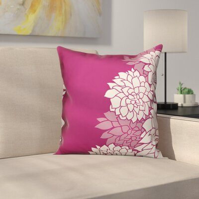 Oreilly Magenta Aster Floral Throw Pillow