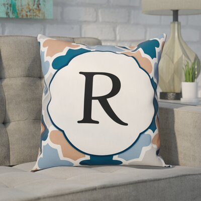 Comstock Monogram Throw Pillow Letter: R