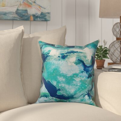 Heitz Watercolor Waves Throw Pillow