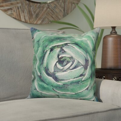 Orrville Light Emerald Succulent Throw Pillow