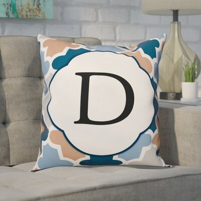 Comstock Monogram Throw Pillow Letter: D