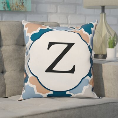 Comstock Monogram Throw Pillow Letter: Z