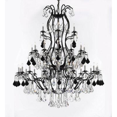 Marshall Wrought 37-Light Crystal Chandelier