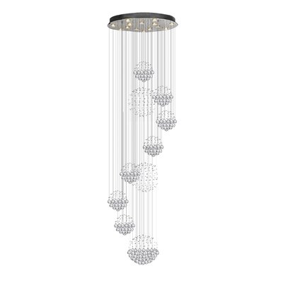 Siciliano Rain Drop 13-Light Cluster Pendant