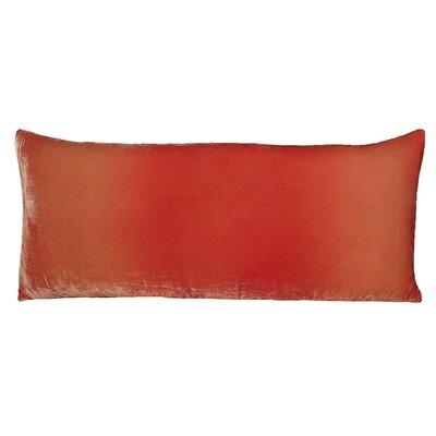 Ombre Large Velvet Boudoir Pillow Color: Coral, Size: 16 x 36