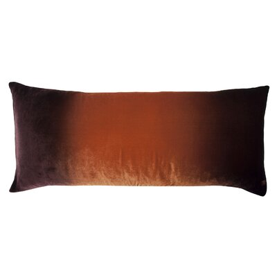 Ombre Large Velvet Boudoir Pillow Color: Golden Brown, Size: 16 x 36