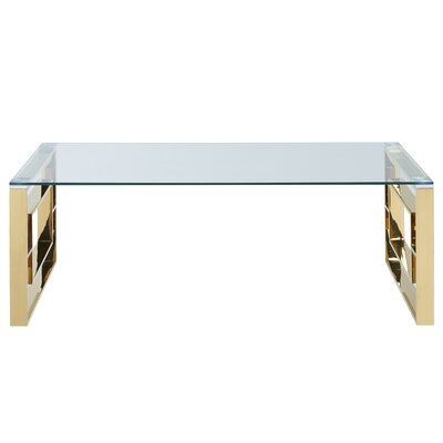 Mendell Stainless Steel Coffee Table Finish: Gold