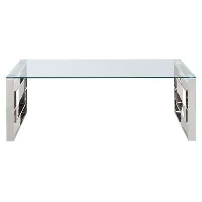 Mendell Stainless Steel Coffee Table Finish: Chrome