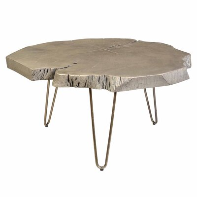Etchison Acasia Wood Coffee Table Finish: Light Gray