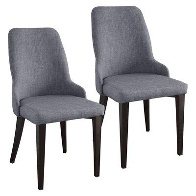 Lampert Upholstered Dining Chair Upholstery: Gray