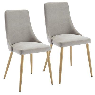 Heffernan Velvet Upholstered Dining Chair Upholstery: Gray