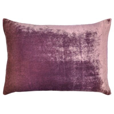 Ombre Velvet Throw Pillow Color: Mauve