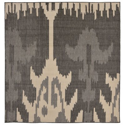 Finklea Ikat Gray/Ivory Indoor/Outdoor Area Rug Rug Size: Square 79