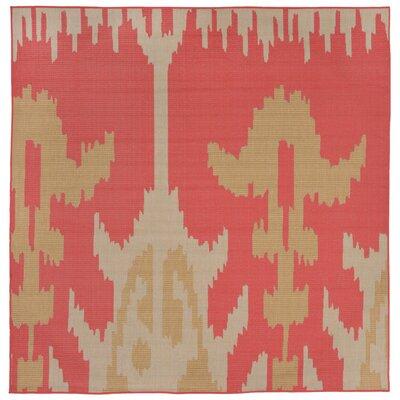 Finklea Ikat Rust/Beige Indoor/Outdoor Area Rug Rug Size: Square 79