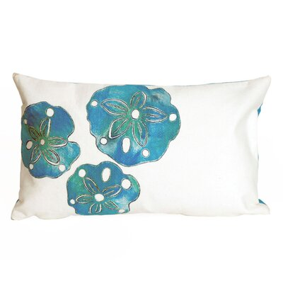 Hugo Sand Dollar Indoor/Outdoor Lumbar Pillow Color: White
