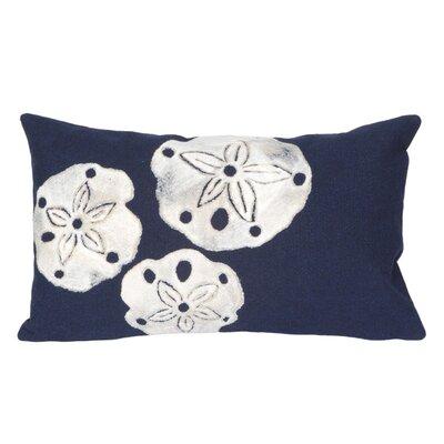 Hugo Sand Dollar Indoor/Outdoor Lumbar Pillow Color: Blue