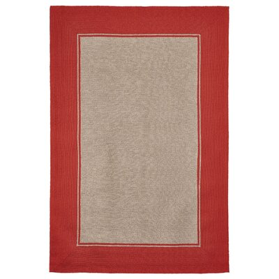 Elam Border Hand-Woven Orange/Beige Indoor/Outdoor Area Rug Rug Size: Rectangle 35 x 55