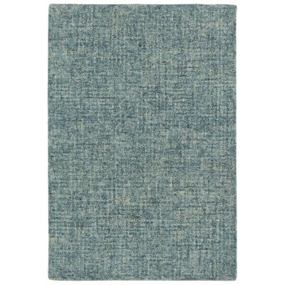 Hunsberger Hand-Woven Wool Blue Area Rug Rug Size: Rectangle 35 x 55