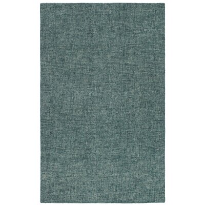 Hunsberger Hand-Woven Wool Green Area Rug Rug Size: Rectangle 35 x 55