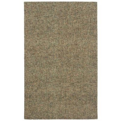 Hunsberger Hand-Woven Wool Khaki Area Rug Rug Size: Rectangle 5 x 75