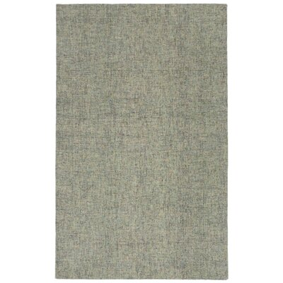 Hunsberger Hand-Woven Wool Gray Area Rug Rug Size: Rectangle 75 x 95