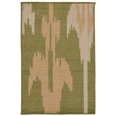 Gorski Ikat Green/Ivory Indoor/Outdoor Area Rug Rug Size: Rectangle 2 x 3
