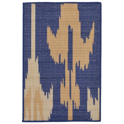 Finklea Ikat Blue/Beige Indoor/Outdoor Area Rug Rug Size: Rectangle 2 x 3
