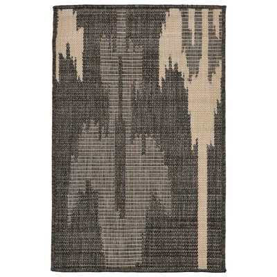Finklea Ikat Gray/Ivory Indoor/Outdoor Area Rug Rug Size: Rectangle 2 x 3