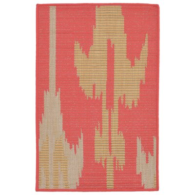 Finklea Ikat Rust/Beige Indoor/Outdoor Area Rug Rug Size: Rectangle 2 x 3