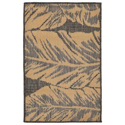 Hunley Banana Leaf Gray/Beige Indoor/Outdoor Area Rug Rug Size: Rectangle 2 x 3